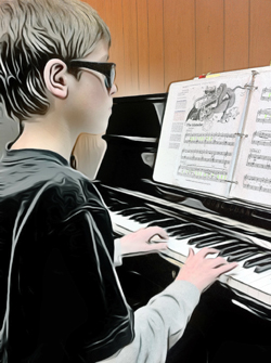 piano keyboard teacher