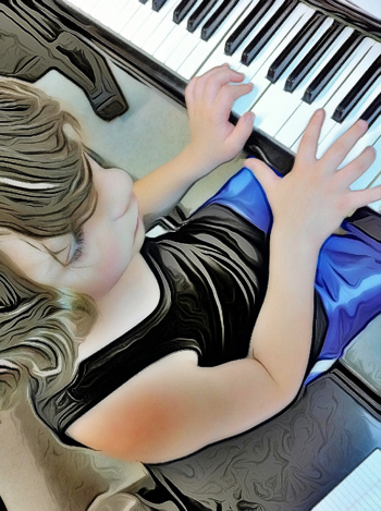 playing recording keyboard piano lessons
